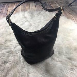 Vintage Coach leather hobo bag chocolate brn